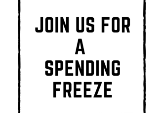 join me for a spending freeze