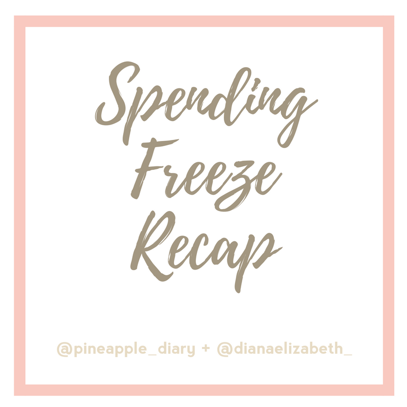 Spending Freeze Recap